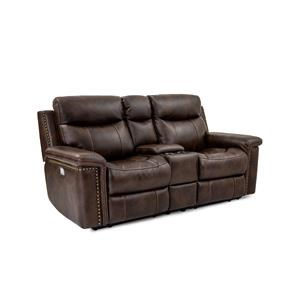 Leather Pwr Recl Console Loveseat w/Pwr Head