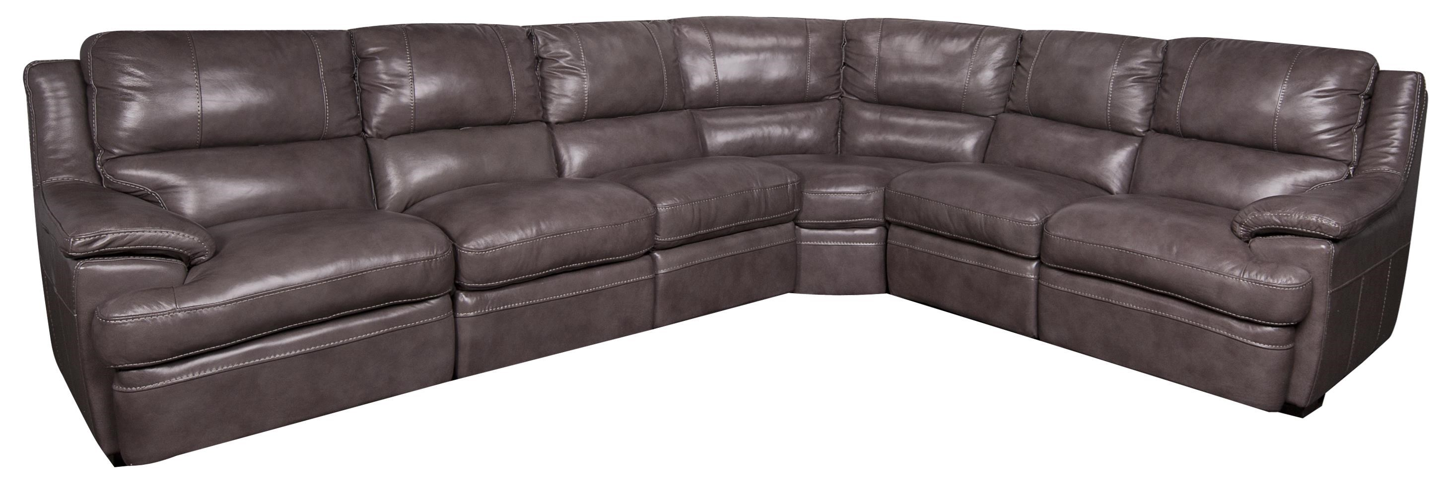 Morris Home Furnishings Zane Zane Leather-Match* 6-Piece Sectional - Item Number: 134834597