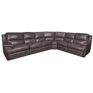 Morris Home Furnishings Zane Zane Leather-Match* 6-Piece Sectional