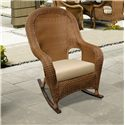 NorthCape International Monaco NC Woven Outdoor High Back Rocker with Seat Cushion