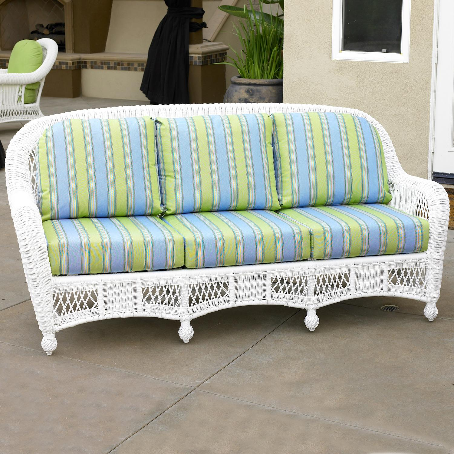 St Lucia Woven Premium Deep Seat Upholstered Outdoor 3 Seat Sofa By  NorthCape International