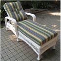 NorthCape International St Lucia Single Adjustable Chaise Lounge - Item Number: NC497-SACL-WH