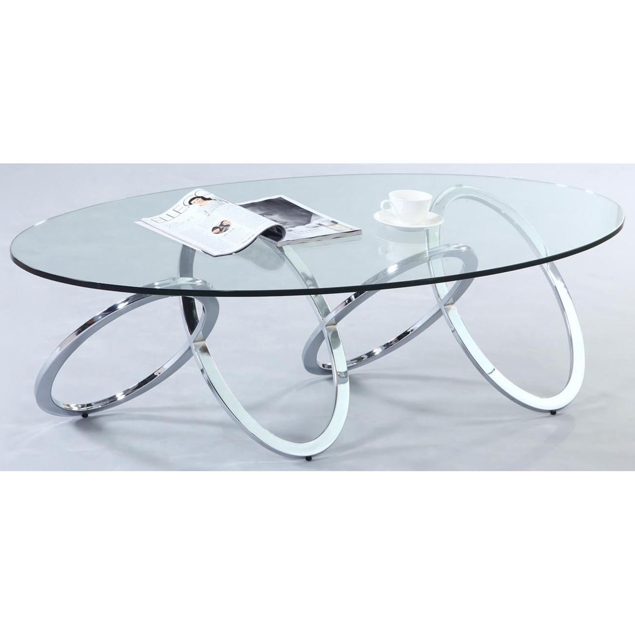 4036 Oval Cocktail Table by Chintaly Imports at Corner Furniture