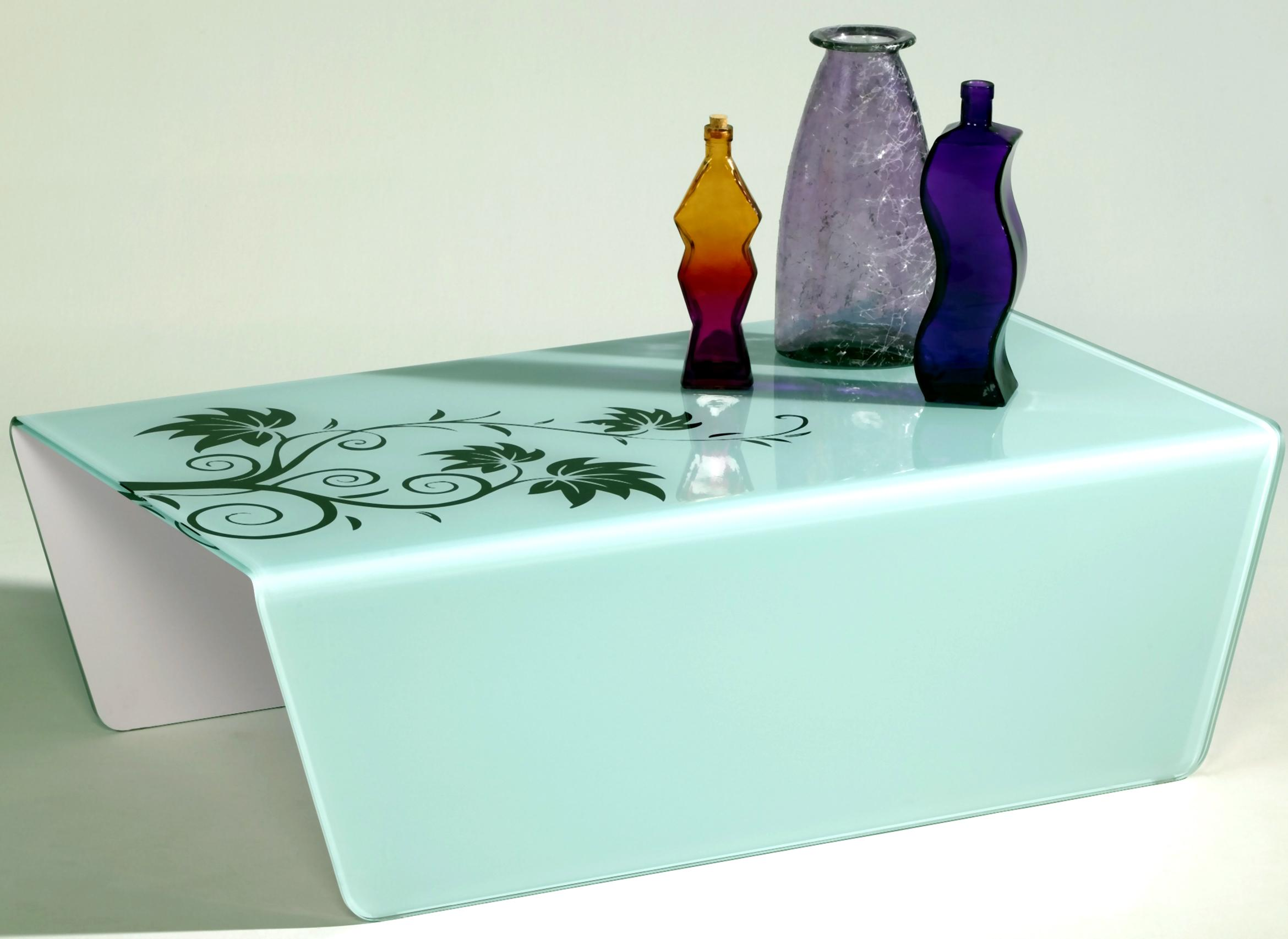 7202 Bent Floral Glass Cocktail Table by Chintaly Imports at Nassau Furniture and Mattress