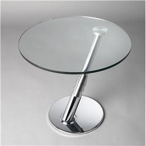 Chintaly Imports 8160 Cocktail Glass Top Table