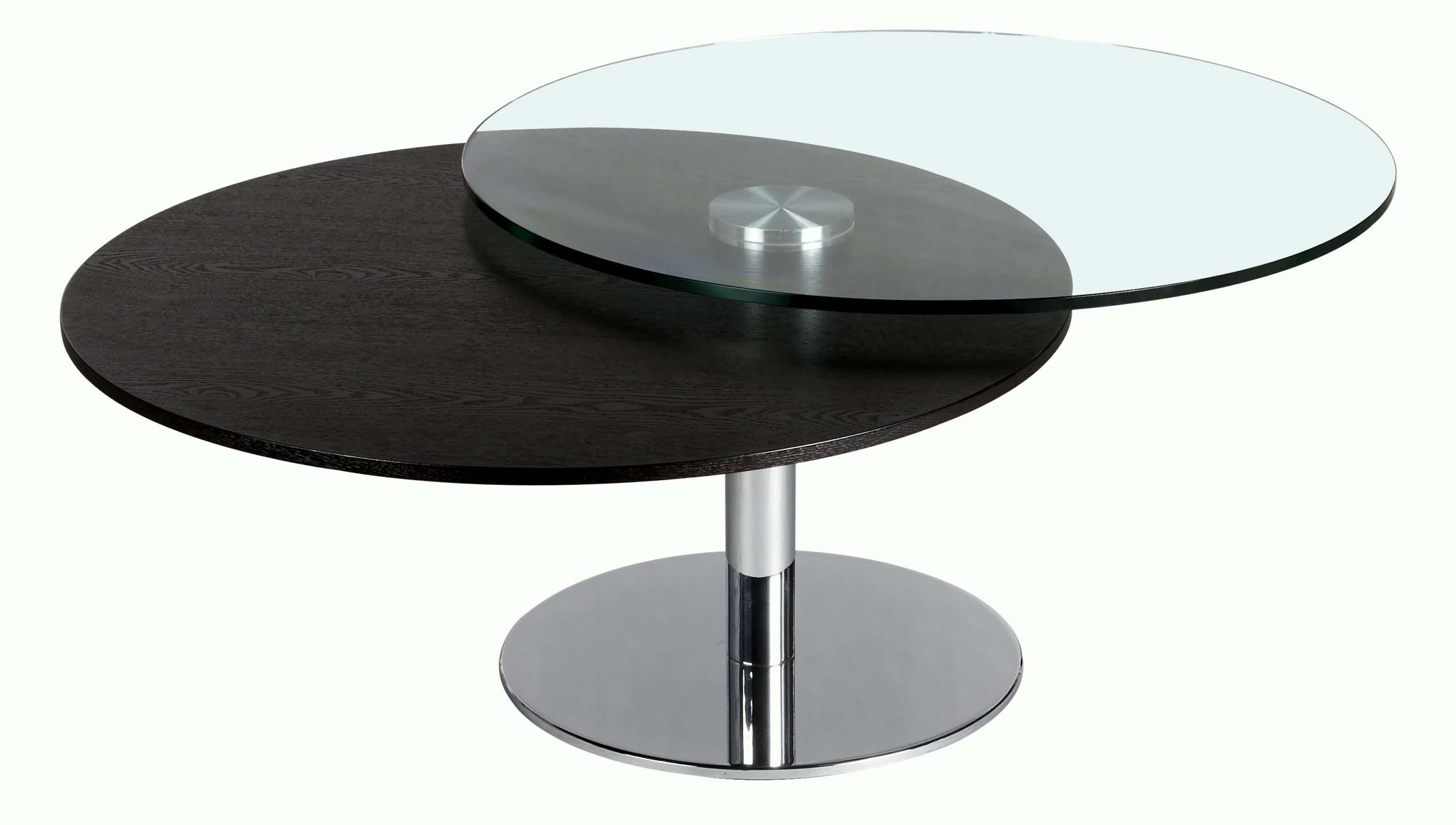 Glass and Wood Motion Cocktail Table