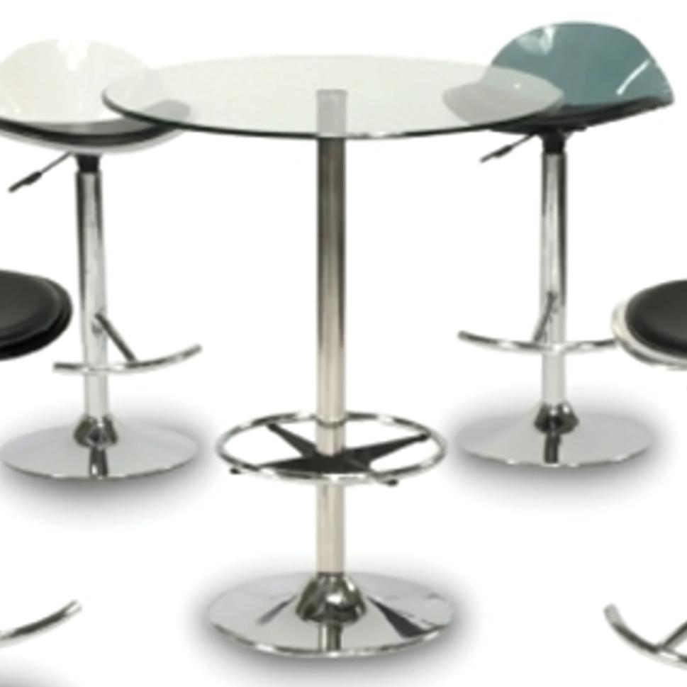 Imported Furniture Online: Chintaly Imports Pub Dining PUB TABLE-30 Chrome And Glass