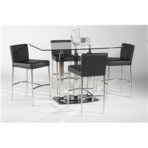 Chintaly Imports Cilla 5 Piece Pub Table and Chair Set