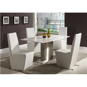 Chintaly Imports Cynthia 5 Piece Table and Chair Set