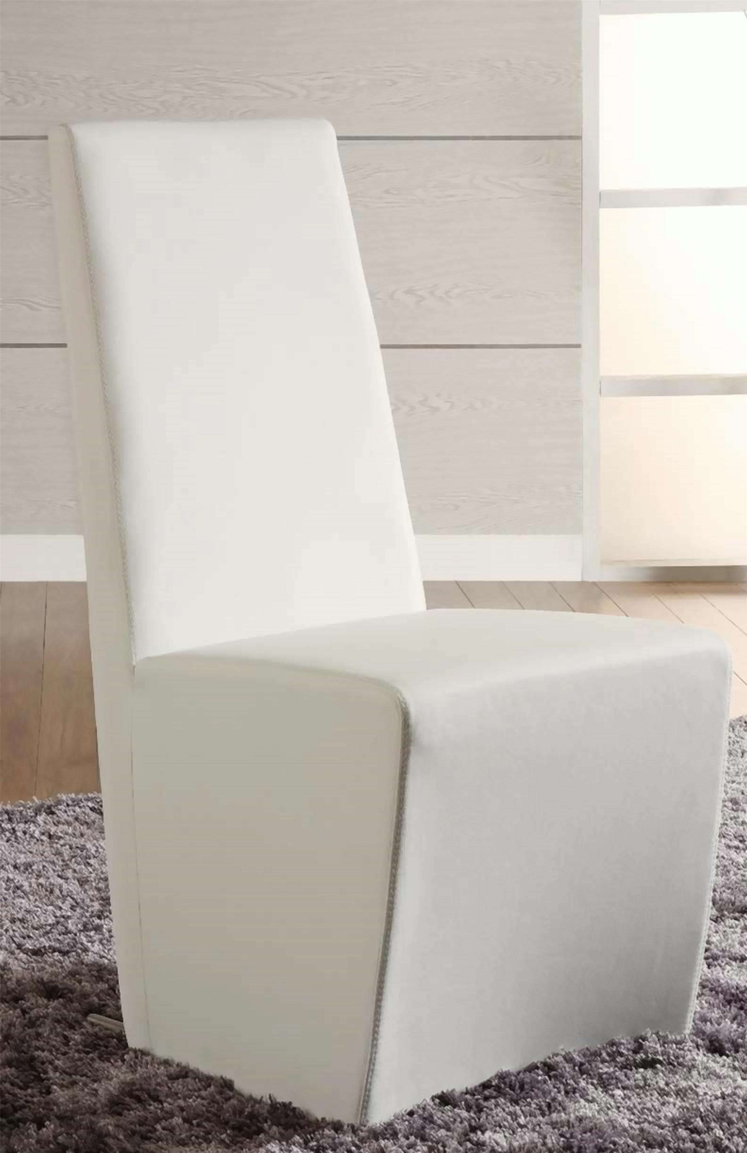 Chintaly Imports Cynthia Side Chair - Item Number: CYNTHIA-SC-WHT