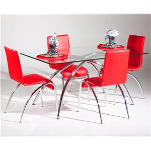 Chintaly Imports Elaine  5 Piece Table and Chair Set
