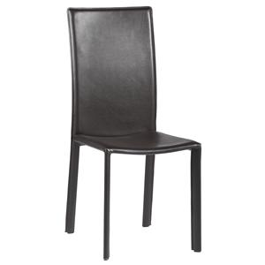 Etonnant Contemporary Brown PVC Side Chair