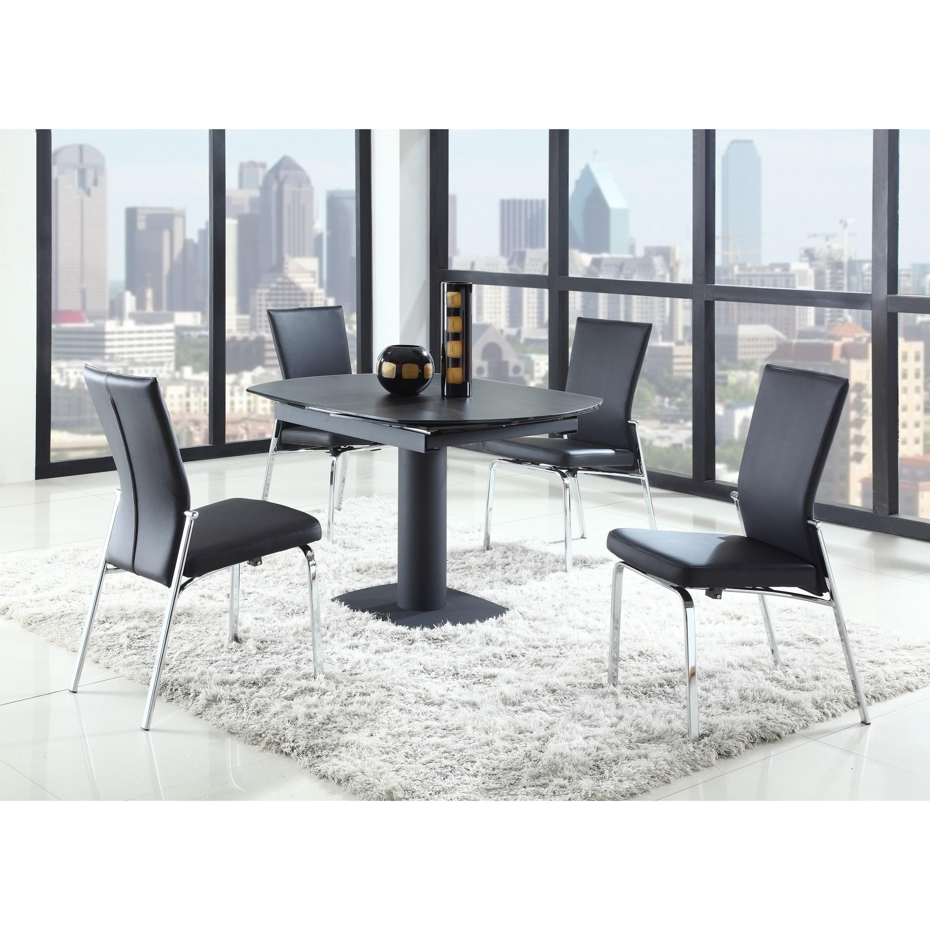 Imported Furniture Online: Chintaly Imports Grace GRACE-DT-BLK Dining Table With