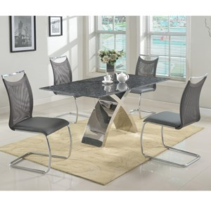 5 Piece Dining Set With Bluestone Table