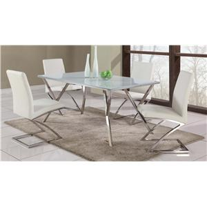Chintaly Imports Jade Jade Five-Piece Dining Set