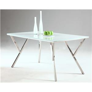 Chintaly Imports Jade Starphire Glass Top Dining Table