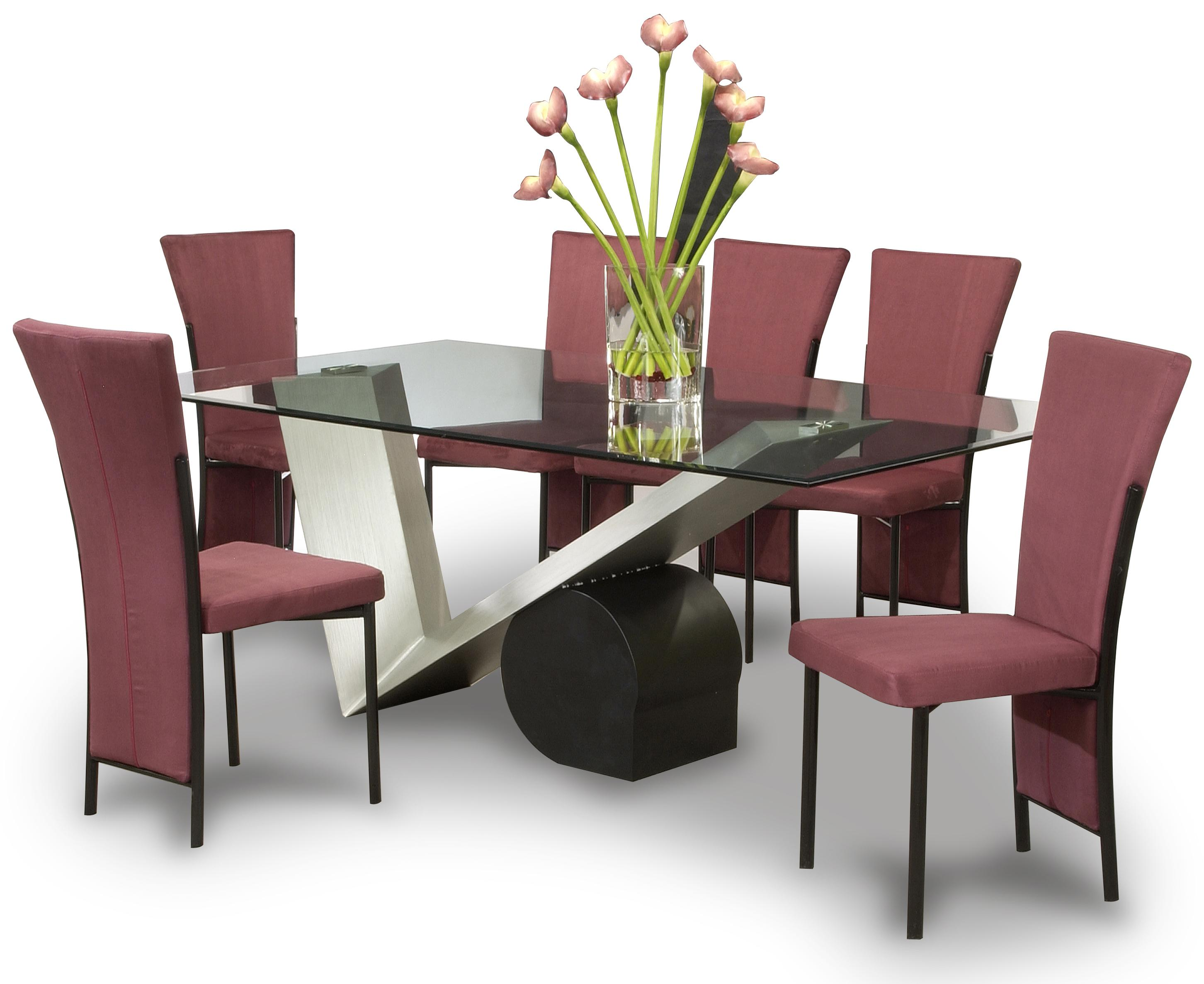 Chintaly Imports Jennifer Jennifer Dt B T 6xsc Brg Dining Table W 6 Side Chairs Corner Furniture Dining 7 Or More Piece Set