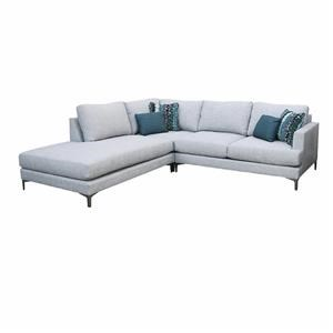 3 PC Sectional L Armless Chaise + Corner + R