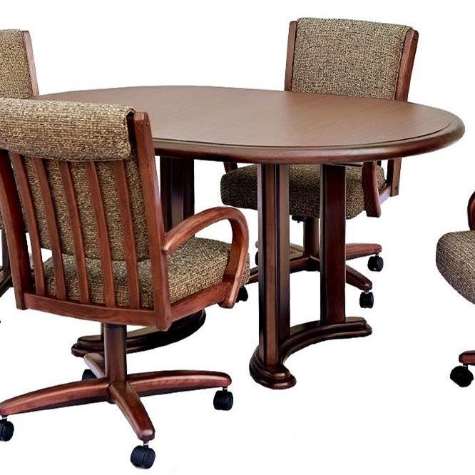 Chromcraft Custom Dining Oval Dining Table | Turk Furniture | Dining Tables  Joliet, La Salle, Kankakee, Plainfield, Bourbonnais, Ottawa, Danville,  Bradley, ...