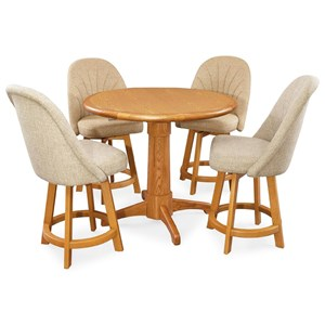 Chromcraft Custom Dining 5 Piece Pub Table Set