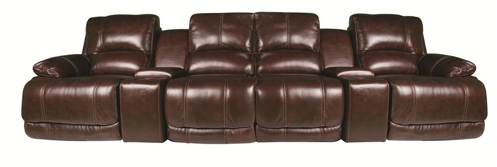 Cindy Crawford Home Sawyer Sawyer 6-Piece Leather Match* Sectional - Item Number: 134886108