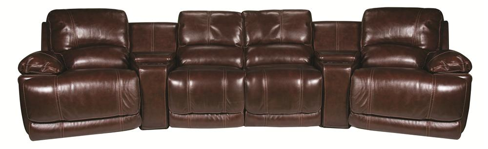 Cindy Crawford Home Sawyer Sawyer 6-Piece Leather Match* Sectional - Item Number: 134886247