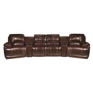 Cindy Crawford Home Sawyer Sawyer 6-Piece Leather Match* Sectional