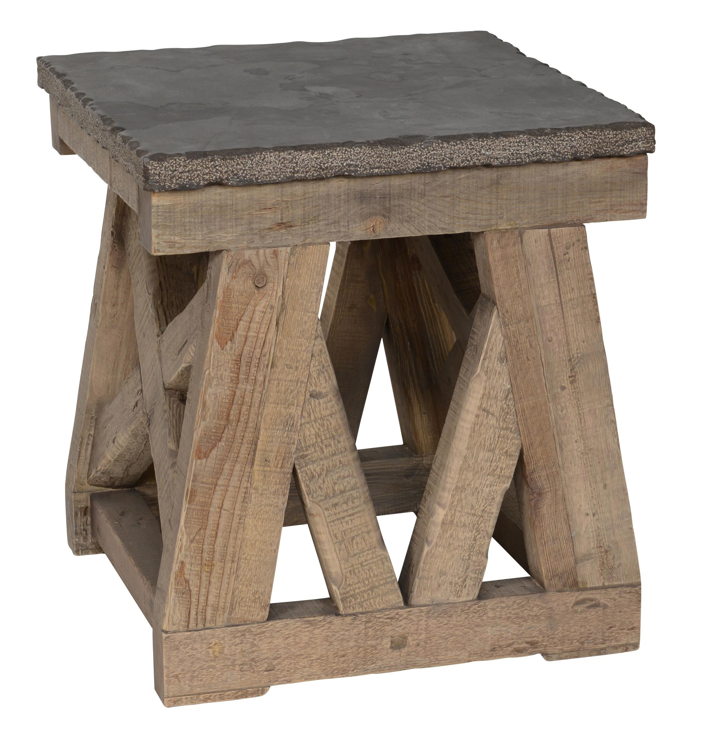 Classic Home/Villa Home Collection Marbella Stone Top End Table - Item Number: GRP-MARBELLA-ENDTBL