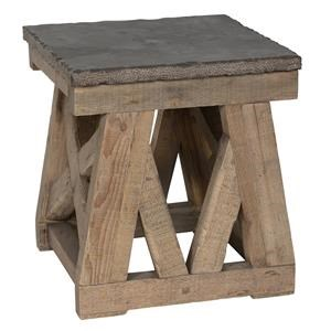 Classic Home/Villa Home Collection Marbella Stone Top End Table
