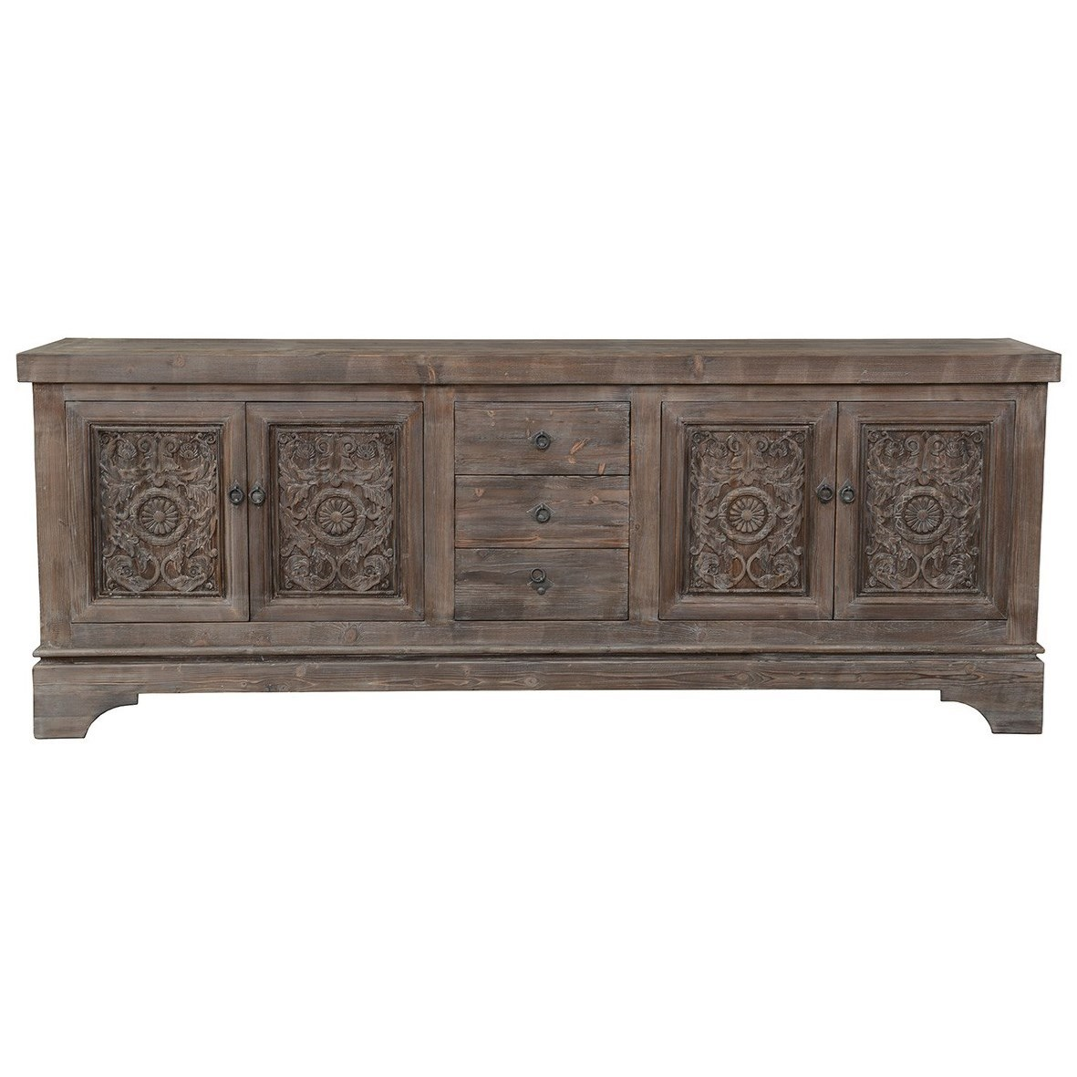 Amita Mocha Sideboard by Classic Home at Alison Craig Home Furnishings