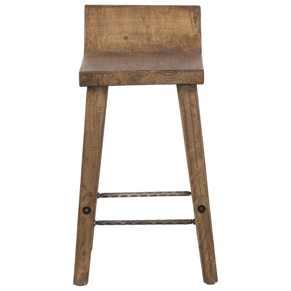 Classic Home Arturo Practical Low Counter Stool With Iron