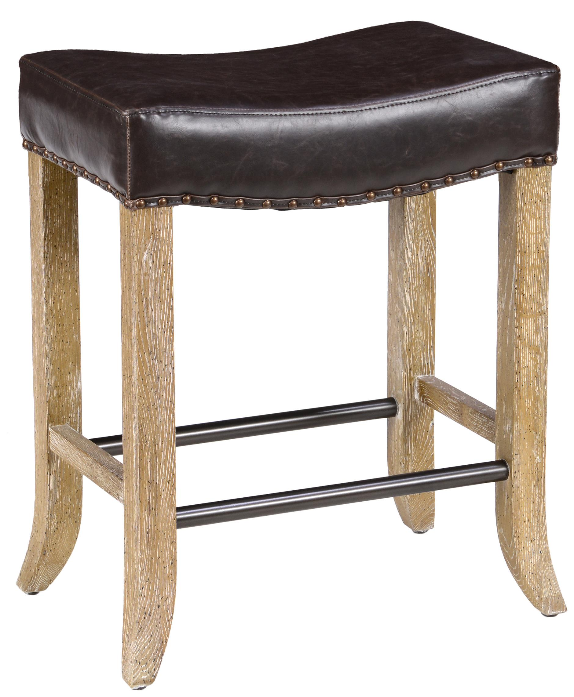 Classic Home Camille Backless Counter Stool With Inspired