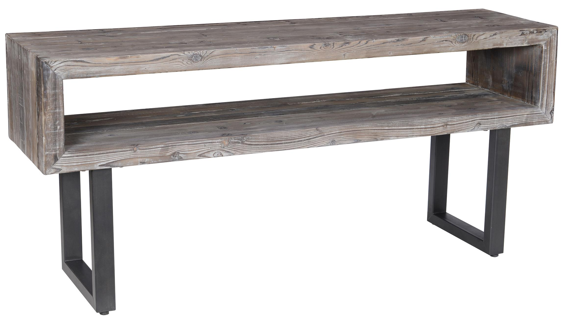 Classic Home Corsica Console Table with Black Metal Base John V