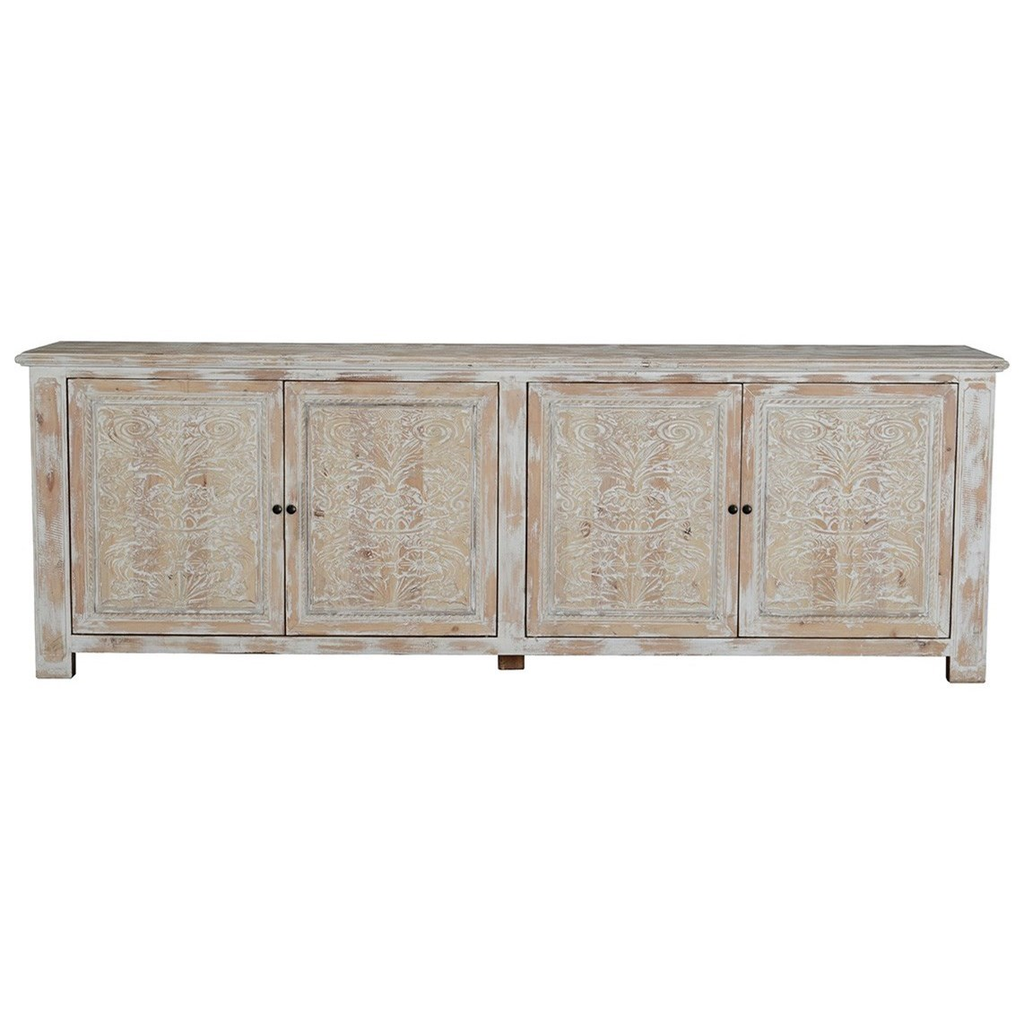 Cortland 4 Door Reclaimed Pine Sideboard by Classic Home at Baer's Furniture