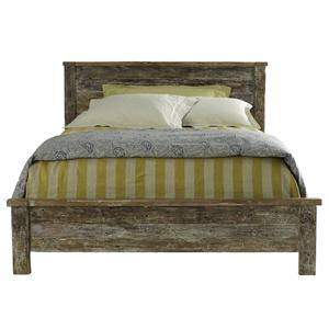 Hampton  Queen Teak Bed by Classic Home