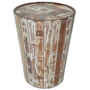 Hampton  Barrell Side Table by Classic Home