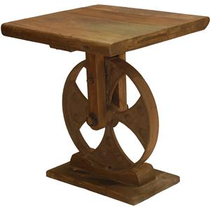 Roda Lamp Table with Whimsical Wheel Base by Classic Home