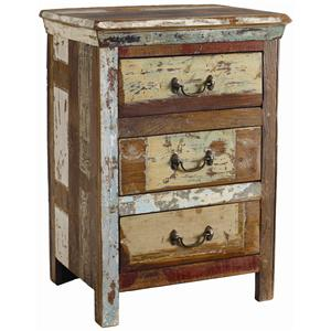 Classic Home Vintage Reclaimed Wood Multi Color 3 Drawer