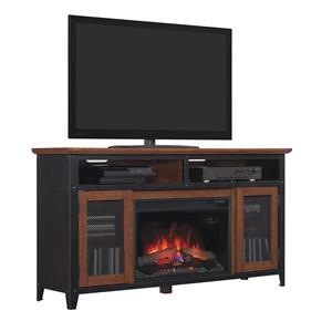ClassicFlame Landis Industrial Media Mantel w/ Fireplace