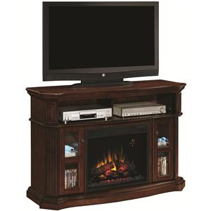 Aberdeen Aberdeen Electric Fireplace Media Cabinet with Two Glass-Front Doors & Open Component Compartment by ClassicFlame
