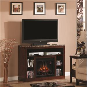 ClassicFlame Adams Media Mantel Fireplace