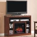 ClassicFlame Adams Media Mantel Fireplace - Item Number: 23MM1824-C244+23II042FGL