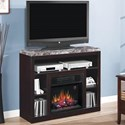 ClassicFlame Adams Media Mantel Fireplace - Item Number: 23MM1824-X445+23II042FGL