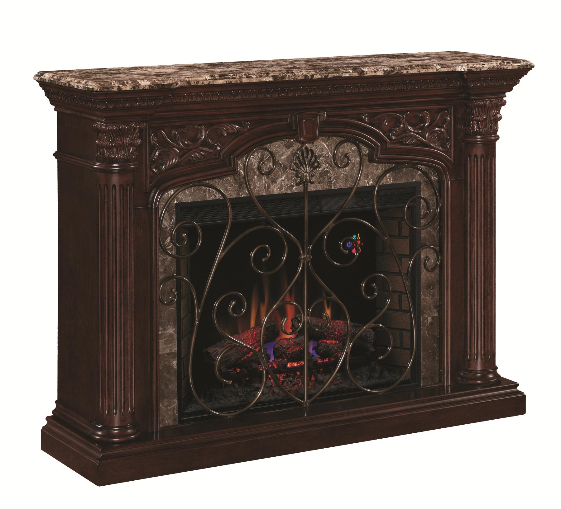 "ClassicFlame Astoria 33"" Wall Mantel - Item Number: 33WM0194-C232+33EF023GRA"