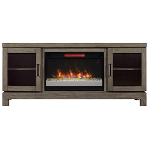 "ClassicFlame Berkeley 63.5"" Media Mantel w/ Electric Insert"