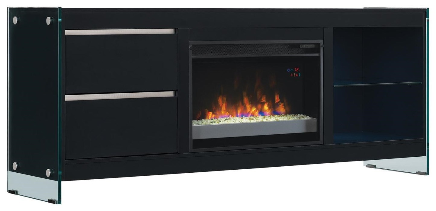"Classic Flame 26"" Biscayne Black Mantel"