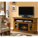 ClassicFlame Brookfield Brookfield Remote Operated Electric Fireplace with Media Storage - Add Warmth and Storage to Any Space