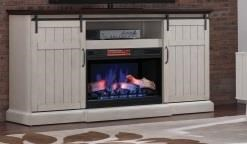 Cedar Crest Cedar Crest Entertainment Mantel W/Fireplace by ClassicFlame at Morris Home