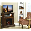 ClassicFlame Corinth  Remote Operated Wall or Corner Electric Fireplace  - Add Warmth and Style to Any Space