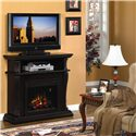 ClassicFlame Corinth  Remote Operated Wall or Corner Electric Fireplace  - Shown Alongside a Wall